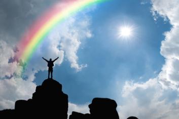 man-and-rainbow