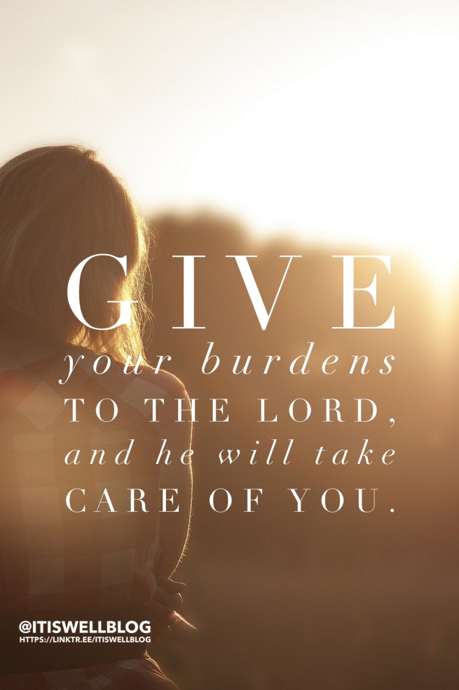 Cast your cares on God
