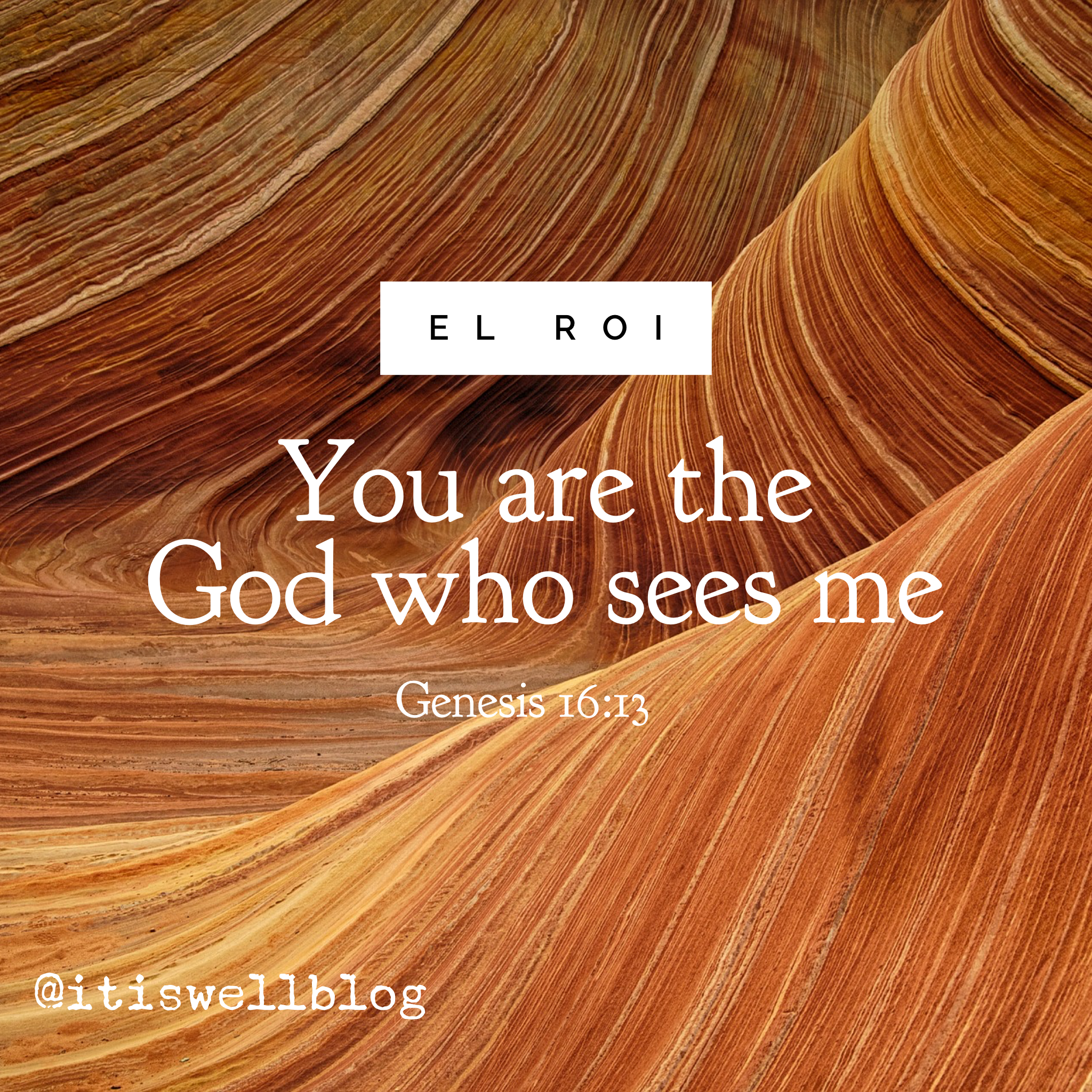 You are the God Who Sees Me